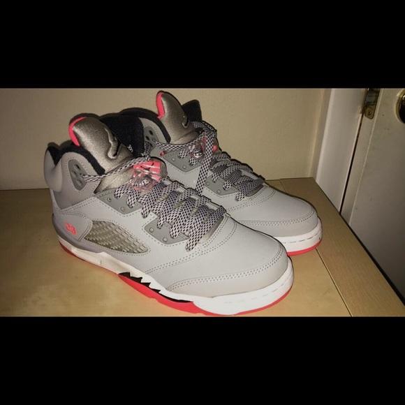 "buy online 49551 318b5 Girl's Air Jordan 5 Retro GG ""Hot Lava"""
